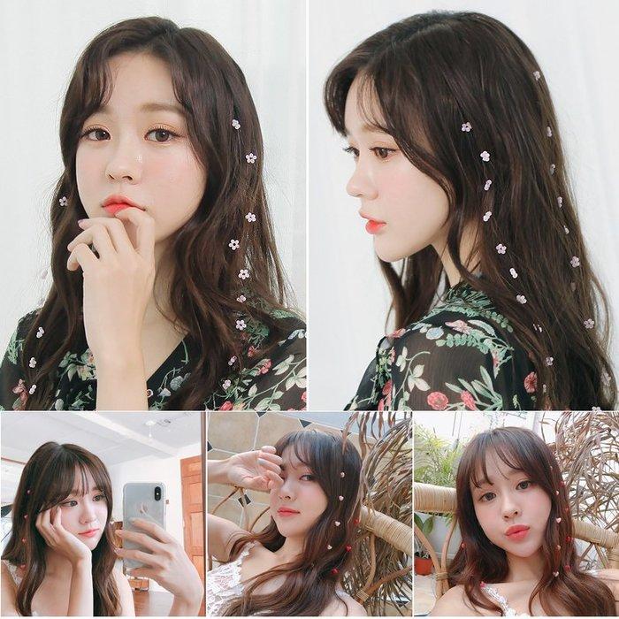 衣萊時尚-熱賣款 韓國可愛仙女甜美發夾小清新花朵發梳長頭發頭飾少女防滑流蘇發卡