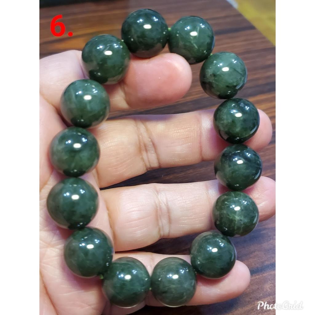 綠髮晶 發晶 手鍊 手環 手珠 15mm+ 天然 ❤水晶玉石特賣#C170-3