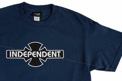 【 K.F.M 】INDEPENDENT O.G.B.C Tee 滑板輪架元老級 短袖 Logo 美國圓筒T 深藍色