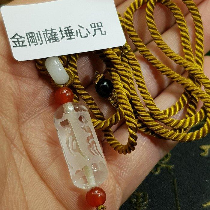 二姐的店【金剛薩埵心咒】天然白水晶 轉經輪 項鍊吊飾~兩用款㊣特價499~y-011