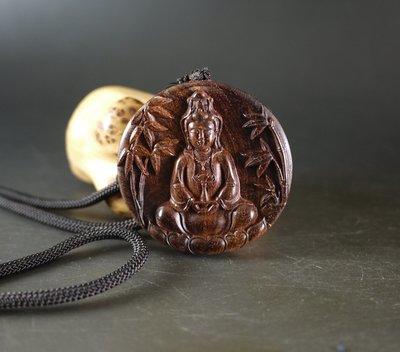 海南黃花梨 雕刻 -竹林觀音- 掛牌  老料 全手工雕刻  只有一件   697