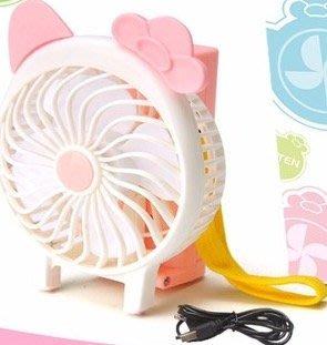 炎炎夏日必備商品~全新手持/折疊 USB充電式可愛貓隨身風扇