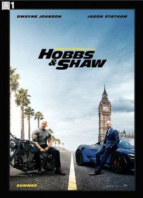玩命關頭 特別行動 海報 新款 壁畫 巨石強森 傑森史塔森 哈柏 戴克蕭 Hobbs Shaw 電影