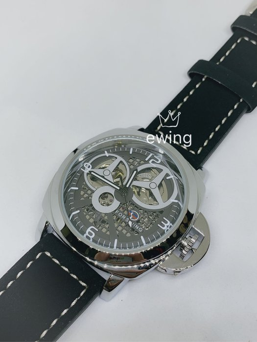[靚錶閣](特)護弓造型機械鏤空錶