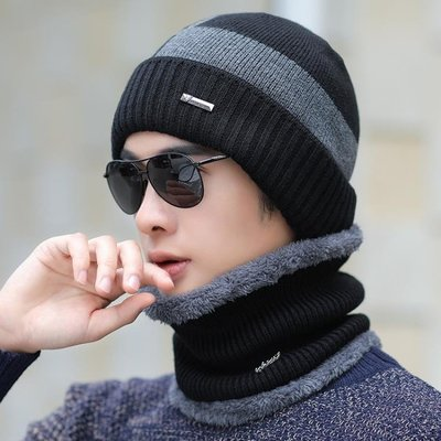 帽子 帽子男冬天保暖毛線帽潮人秋冬季加絨棉帽百搭防寒針織帽