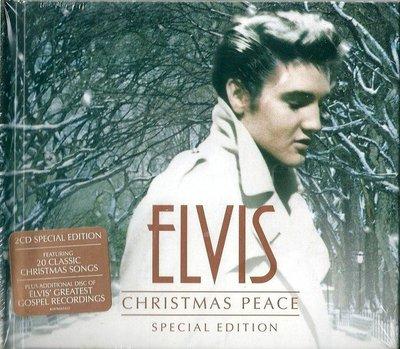貓王 Elvis Presley : 耶誕祝福 Christmas Peace (限量精裝版2CD,全新未拆封)