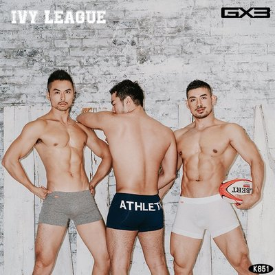 GX3日本設計.免運【K851】【 L 號】3件1組 田徑體育學院風 男四角褲 男生內褲.Jn男潮內著