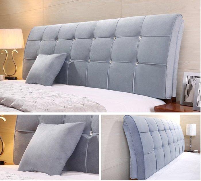 床頭軟包弧形雙人床頭靠背靠枕榻榻米床頭靠墊床頭罩套定制
