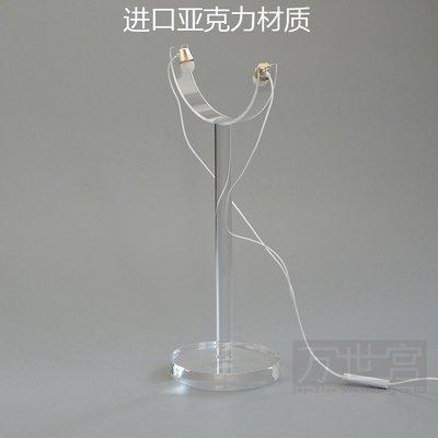 遇見❥便利店 【萬世宮】頭戴式耳機展示架 亞克力透明耳機架 Y形展示架(規格不同價格不同請諮詢喔)