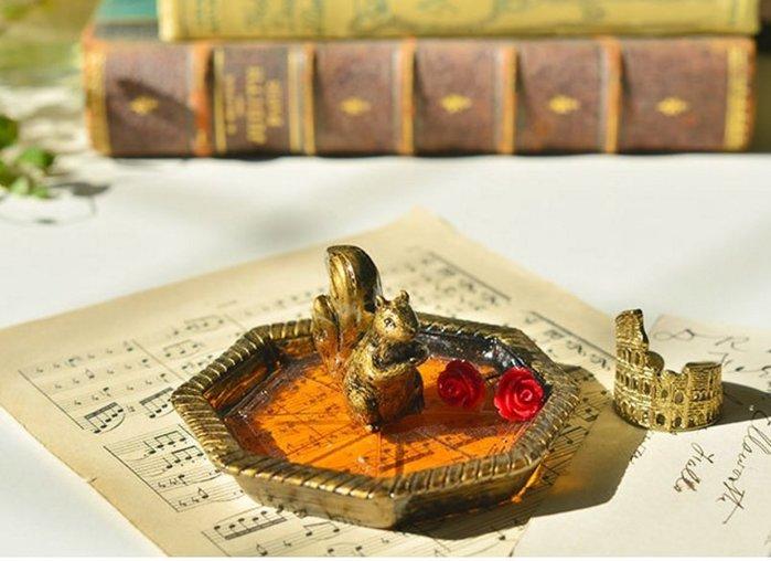 古董復古風松鼠首飾盒/收納盒