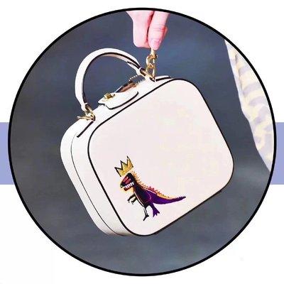 【全新正貨私家珍藏】Coach Jean-Michel Basquiat 方形香蕉小恐龍手提斜挎包 6897 6898