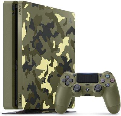 100%全新PS4 1TB 限定版薄版主機連手掣+Call of Duty WWII遊戲(4.70 version)