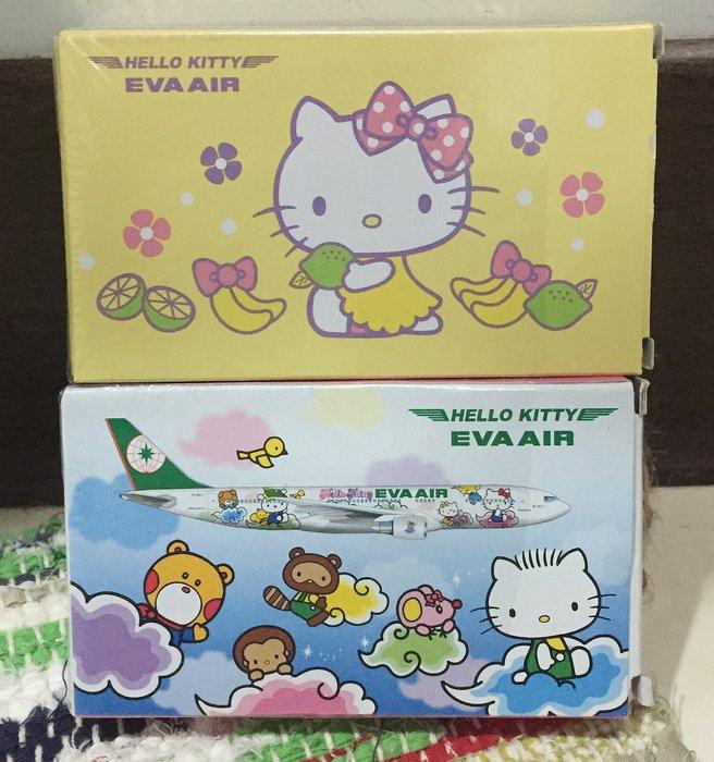 長榮Hello Kitty限量撲克牌,兩款各1,全新,但有拆封模拍照,EVA AIR Hello kitty