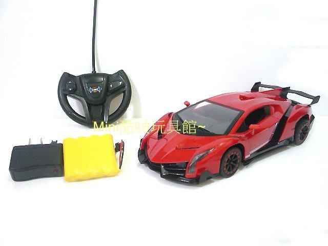 1/16 1:16 充電版-仿真外型毒藥藍寶堅尼遙控車 遙控跑車~紅色