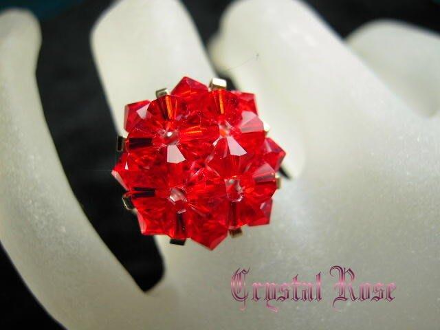 ※水晶玫瑰※ SWAROVSKI 水晶戒指~丁香紫(HAND37)