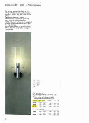 德國名牌 LIMBURG WALL LUMINAIRE FOR 1 X E27 200W GLS LAMP MODEL NO. 2495