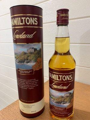 免郵順豐站🌹 Hamilton Lowland single malt whisky 700ml英國蘇格蘭低地區單一麥芽威士忌現貨 順豐免郵
