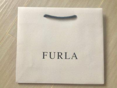 絕對原裝真品 100%新【FURLA】白色 紙袋 paper bag 25 x 22 x 8 cm