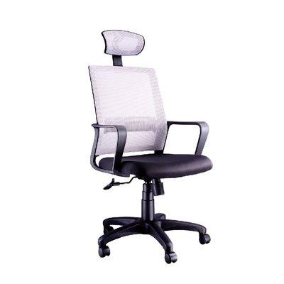 螞蟻雄兵 LV-191 網布辦公椅(灰色款) 電腦椅 職員椅 會議椅 電競椅 透氣耐坐 人體工學 頭枕 辦公桌椅 椅子