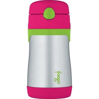 【一起雜貨】Thermos Foogo 膳魔師 不鏽鋼 真空吸管杯  10oz Watermelon/Green