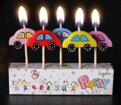 (甜心手作坊)可愛小汽車生日蠟燭 工藝蠟燭 蛋糕裝飾蠟燭1組