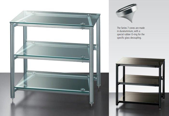 【音逸音響】義大利原裝.金屬+玻璃.音響架 / 器材櫃》Solidsteel 7.3 (S銀色 或 B黑色)