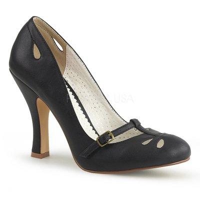 Shoes InStyle《四吋》美國品牌 PIN UP CONTURE 原廠正品復古高跟包鞋 有大尺碼『黑色』