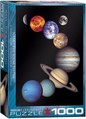 美國進口拼圖 EUR NASA The Solar System 太陽系‧1000片拼圖,6000-0100