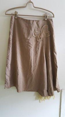 99起標~HOGOCOLOR土黃色及膝裙