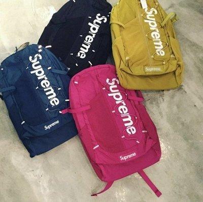 ☆LimeLight☆ 2017 Supreme 42th 42代 Backpack 後背包 反光 深藍 粉紅