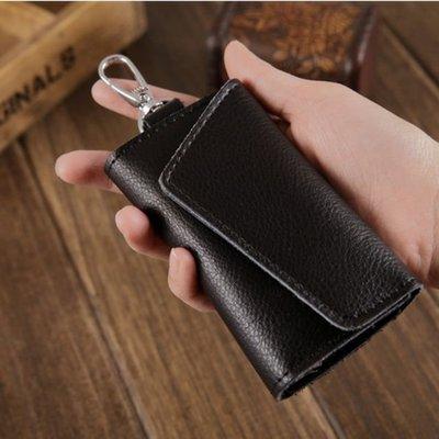 『豬豬小舖』台灣 現貨 鑰匙包 牛皮 材質 鑰匙圈 時尚 簡約 鑰匙 掛勾 感應扣 感應器 遙控器 收納 零錢包 皮夾