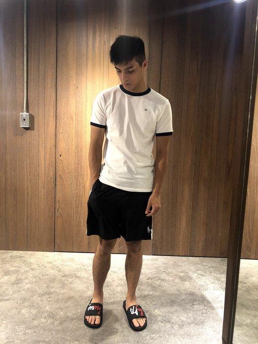美國百分百【Ralph Lauren】運動褲 短褲 休閒褲 褲子 Polo RL 小馬 黑色 XS S號 I162