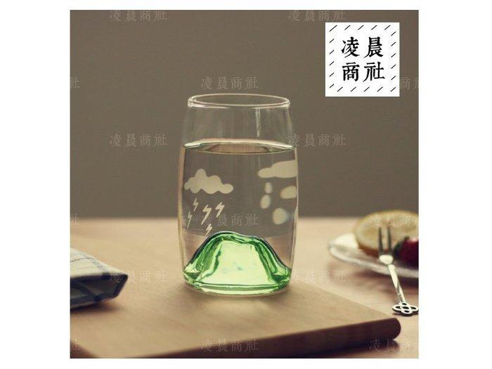 凌晨商社 //  極簡 清新 富士山 插畫 zakka 創意 立體火山 雲朵 雨天 小確幸 療愈小物 綠色下標區