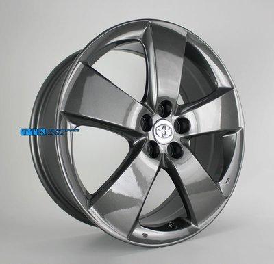 新款TOYOTA/LEXUS專用中心孔54.1 ~18吋 鋁圈 5X100 7J ET45 鈦灰色 適用原廠螺帽