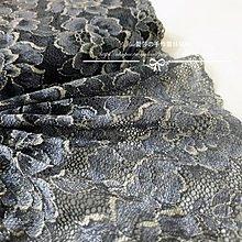 『ღIAsa 愛莎ღ手作雜貨』長90cm 單/雙排霧藍色彈力蕾絲/服裝輔料裙邊領子袖裝飾寬17cm