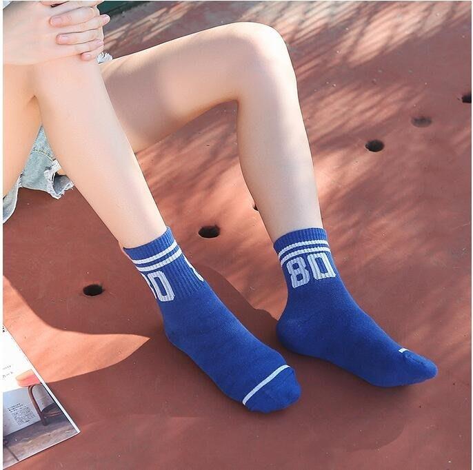 襪子女中筒襪日系純色棉襪
