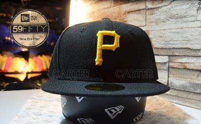 New Era MLB Pittsburgh Pirates AC Cap 2016 匹茲堡海盜隊球員帽黑底黃字全封尺寸