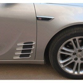 汽車改裝 模擬機蓋引擎蓋進氣口 側風口鯊魚腮 風口裝飾-5201003