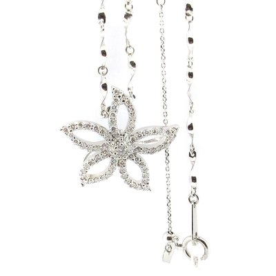 【JHT金宏總珠寶/GIA鑽石專賣】花草造型天然鑽石項鍊(JB45-A21)