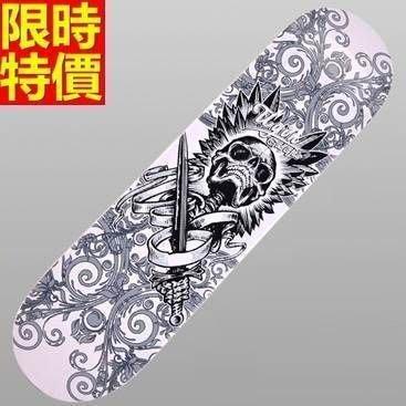 滑板 戶外用品-個性骷髏守衛酷炫時尚蛇板66ah47[獨家進口][米蘭精品]