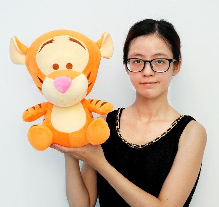 娃娃夢幻樂園~可愛跳跳虎~正版迪士尼~高33cm小熊維尼家族~跳跳虎玩偶~生日禮物~全省宅配