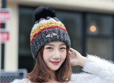 帽子         針織帽帽子女韓版潮百搭保暖毛線棉帽子毛線帽