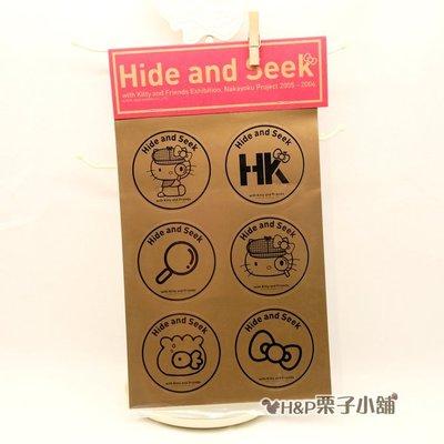 Hello Kitty 香港KITTY展 限定貼紙 圓形 凱蒂貓 生日   H  P栗子小舖