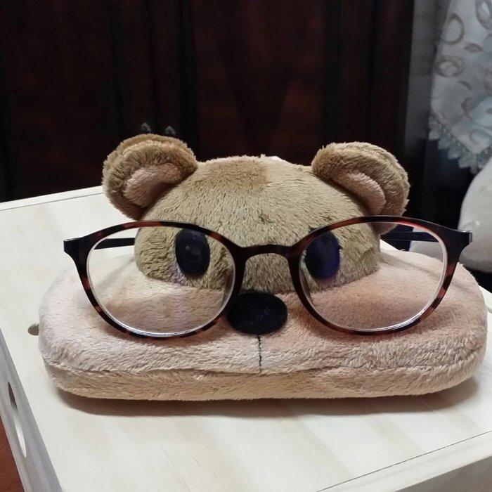 美生活館 日本創意商品 可愛小熊 眼鏡盒 收納盒 眼鏡架 收藏 自用 贈禮