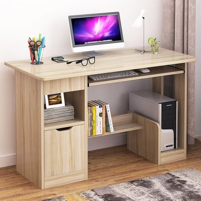 (限宅配)快樂生活網《YV9759》簡易書桌電腦桌 附書櫃電腦桌 辦公桌 書桌 筆電桌