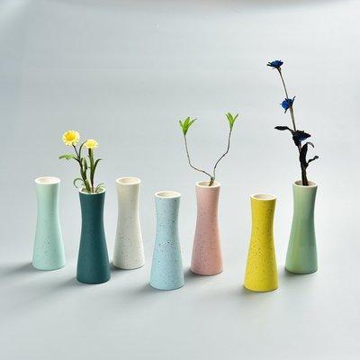馬卡龍花插 擺件陶瓷水培創意簡約小花瓶家居裝飾品花器桌面    全館免運