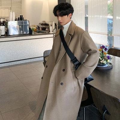 正韓男裝 翻領雙排扣紳士長大衣外套 / 4色 / UMN1294 KOREALINE 搖滾星球