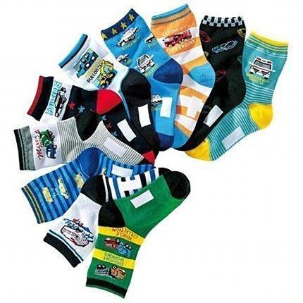 **阿布童裝**【AQ47】男中大童工程車汽車圖案短襪寶寶襪兒童襪子學生襪(3枚組不挑款)15-19/19-23CM