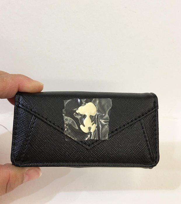 ^燕子部屋 ^三麗鷗正版 【史努比】時尚皮質鑰匙包-黑色