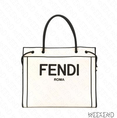 【WEEKEND】 FENDI Undyed Roma Shopper 托特包 白色 20秋冬